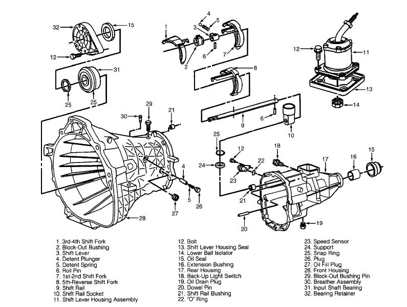 Nv3500 Manual Transmission Exploded View Diagram Auto