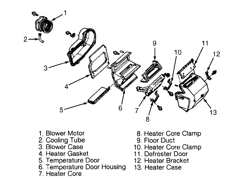 Replace Heater Core In A 1995 Gmc Vandura 2500