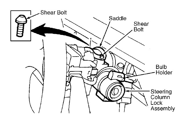 service manual  how to remove ignition lock 2001 land