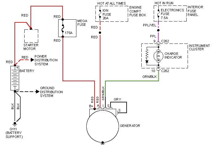 alternator wiring diagram 98 contour download wiring diagrams u2022 rh osomeweb com Chrysler Alternator Wiring Diagram GM Alternator Wiring Diagram