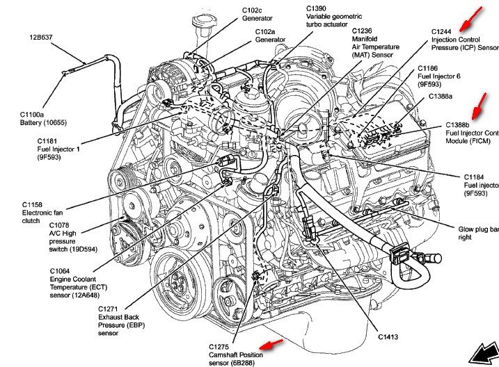 6 0 powerstroke fuel filter diagram