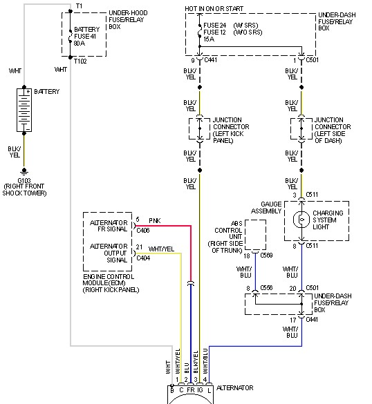 Honda Civic Alternator Wiring Diagram : I changed the alternator in my honda civic lx but