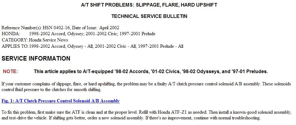 2002 Honda Odyssey With 103k Transmission Sliping In 1st