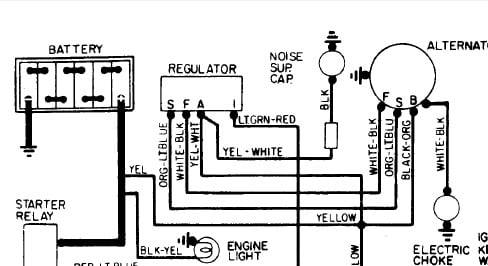 1965 Ford F100 Alternator Wiring Diagram