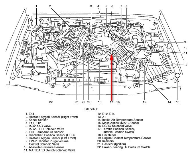 2000 nissan xterra: auto trans shifts..gears hard..vacum hose is off: 2000 Xterra Engine Diagram at e-platina.org