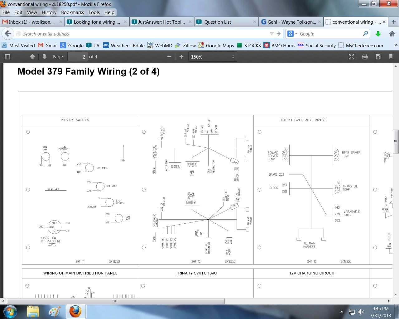 Looking for a    wiring       diagram    for a 1979 359    peterbilt    conventional for automanual fan switch to