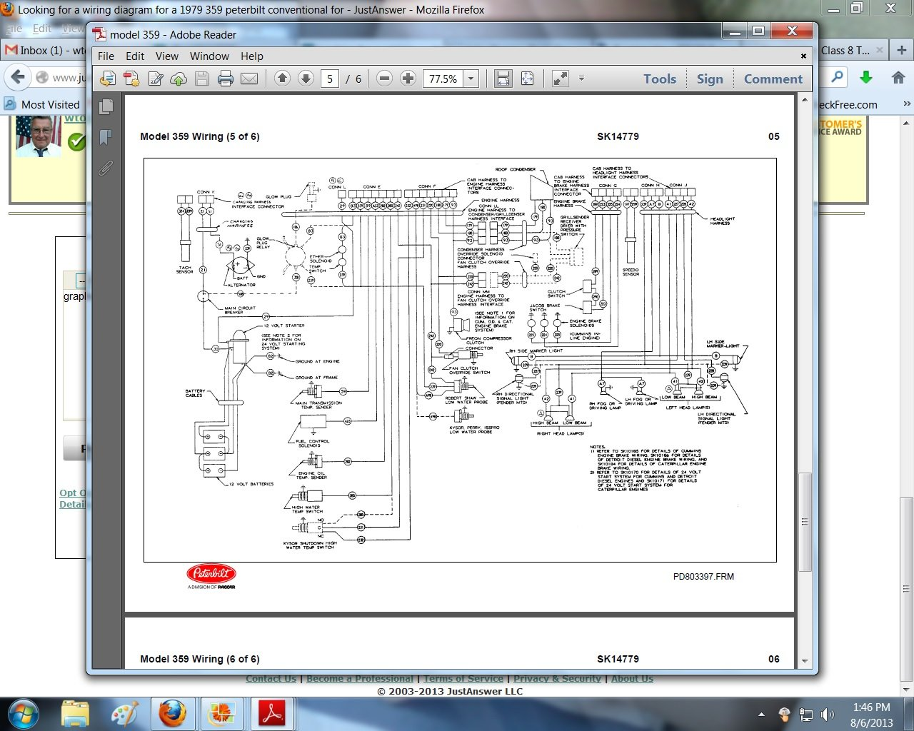 06 Peterbilt 379 Wiring Schematic Diagrams 2006 1998 Diagram 33 Headlight For