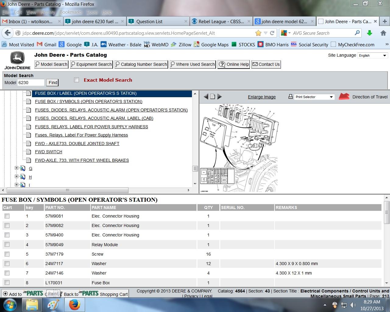 deere 6230 fuel transfer pump fuse location rh justanswer com john deere 4310 fuse box diagram john deere 5525 fuse box location