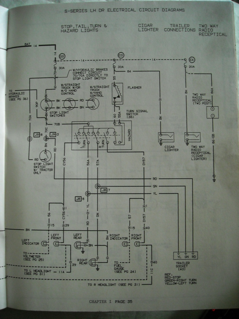 Need Air Brake System Diagram 1987 International S1900 Brakes Schematic Graphic