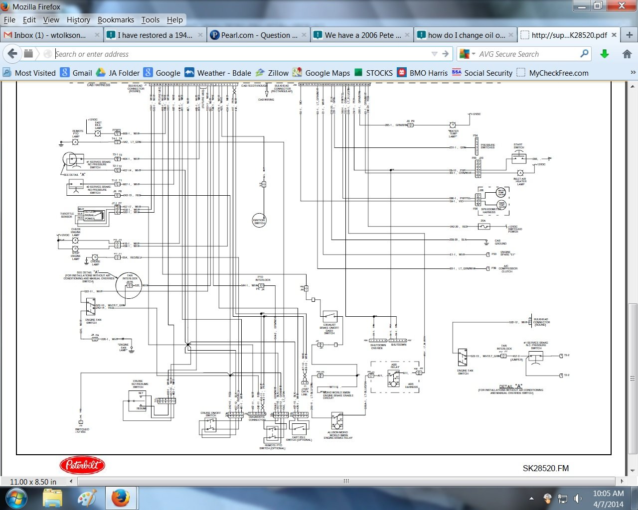 Peterbilt 335 Wiring Diagrams Diagram 1989 378 Schematic We Have A 2006 Pete With Cat C7 Need An Electrical Fuse Panel