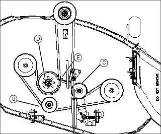 my husband is replacing the belts on his old deere riding lawn mower John Deere L120 Electrical Diagram take a few minutes graphic