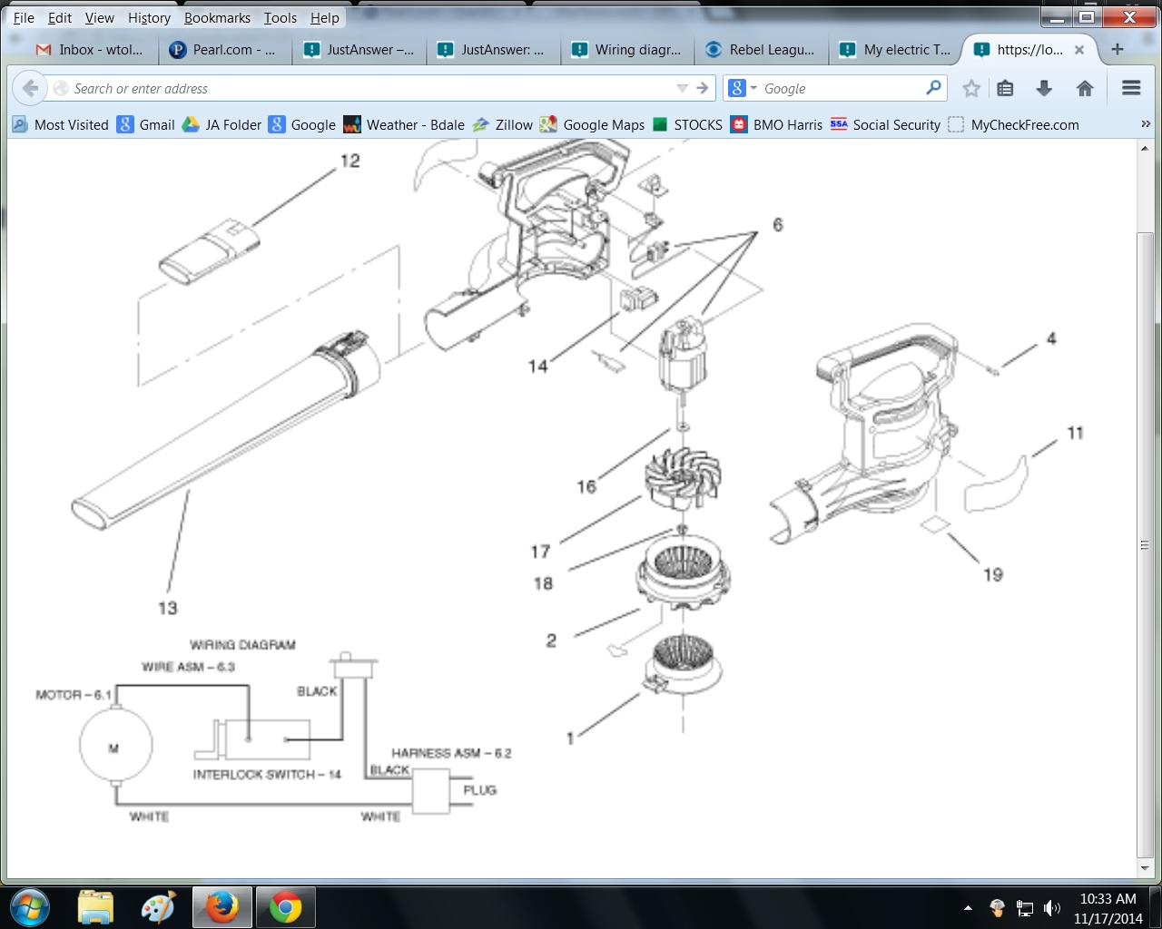 [DIAGRAM_34OR]  Wiring diagram for safety switch on bottom of unit? | Toro Leaf Blower Wiring Diagram |  | JustAnswer