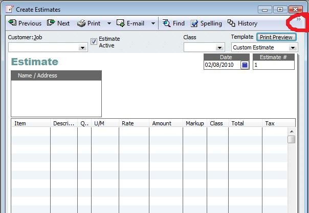 i have quickbooks premier contractors 2009 can i create my own