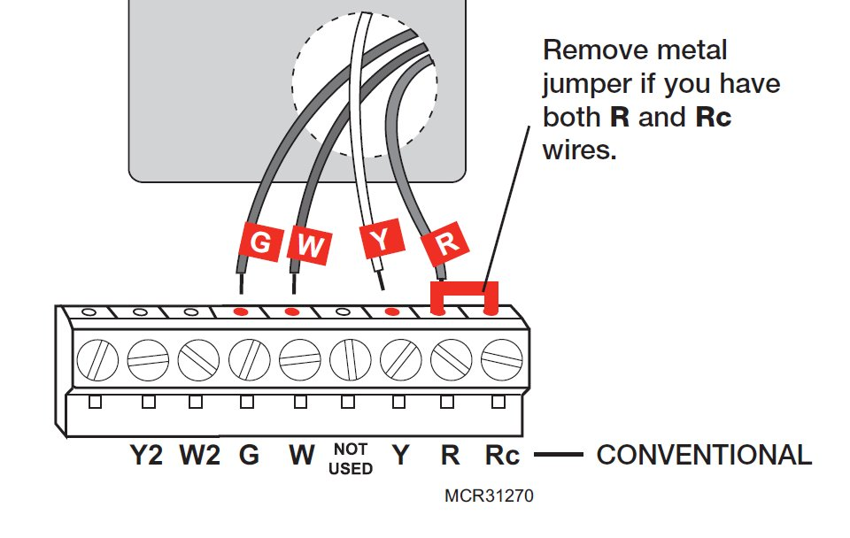 Model Rth6350  Rth6450 Series I Have Existing Wires Labeled