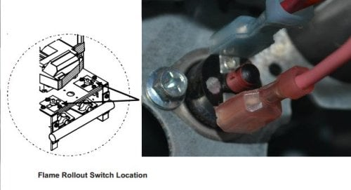 where is the reset switch on a rheem classic rpne