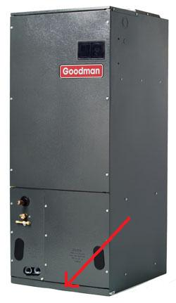 I Have An Aruf Air Handler By Goodman How Do I Access The