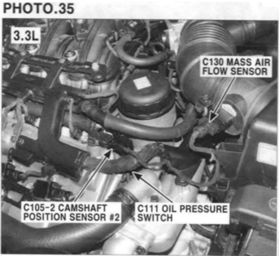 Oil on Oil Pressure Sending Unit Diagram