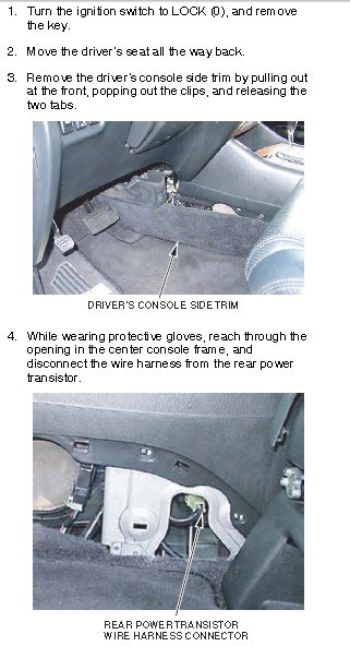 The Rear A  C Blower Has Quit Working In My 2003 Acura Mdx  In The Troubleshooting Process I Have