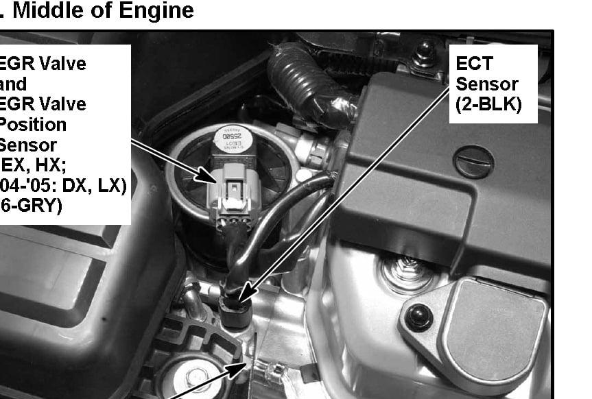 2003 Acura EL 1 7 - Questions about Temperature Sensor(s