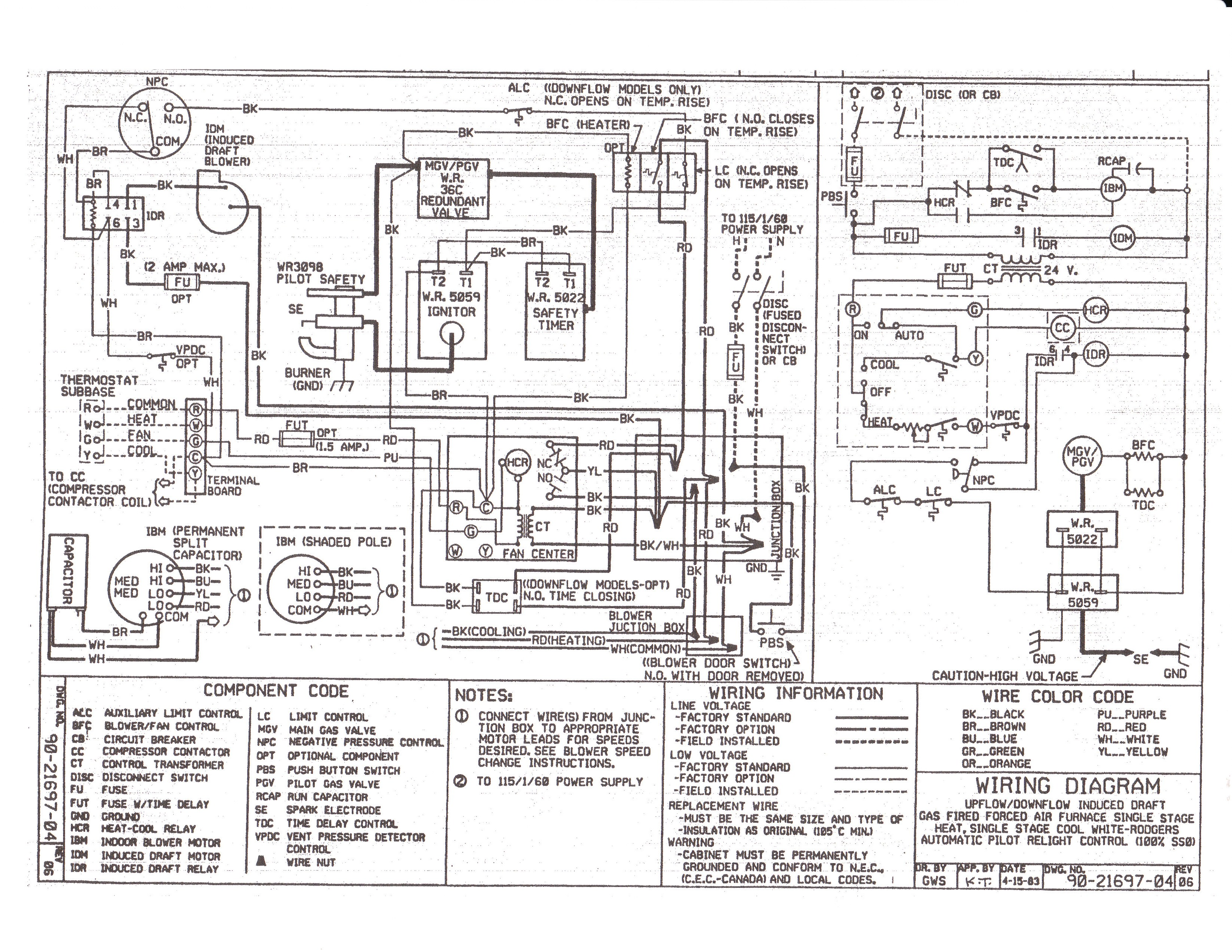 wiring diagram older furnace heater relay furnace wiring diagram older i have a signature gas furnace srm-54425a and having ...