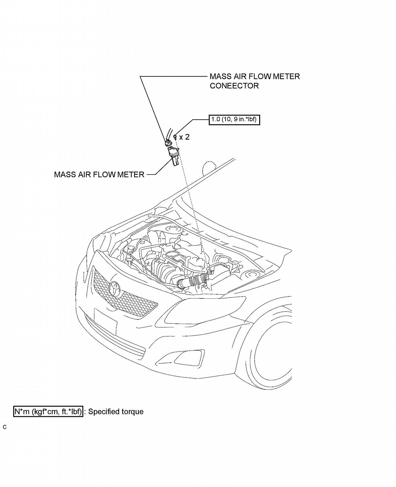 2010 toyota corolla le has codes p0101 p0171 idles a little rough on