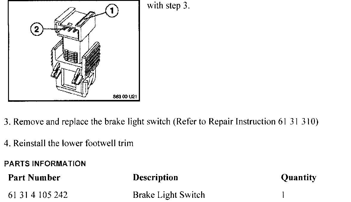 E46 Brake Light Switch Wiring Diagram Control Module My 2000 740il Lights Stay On Constantrh