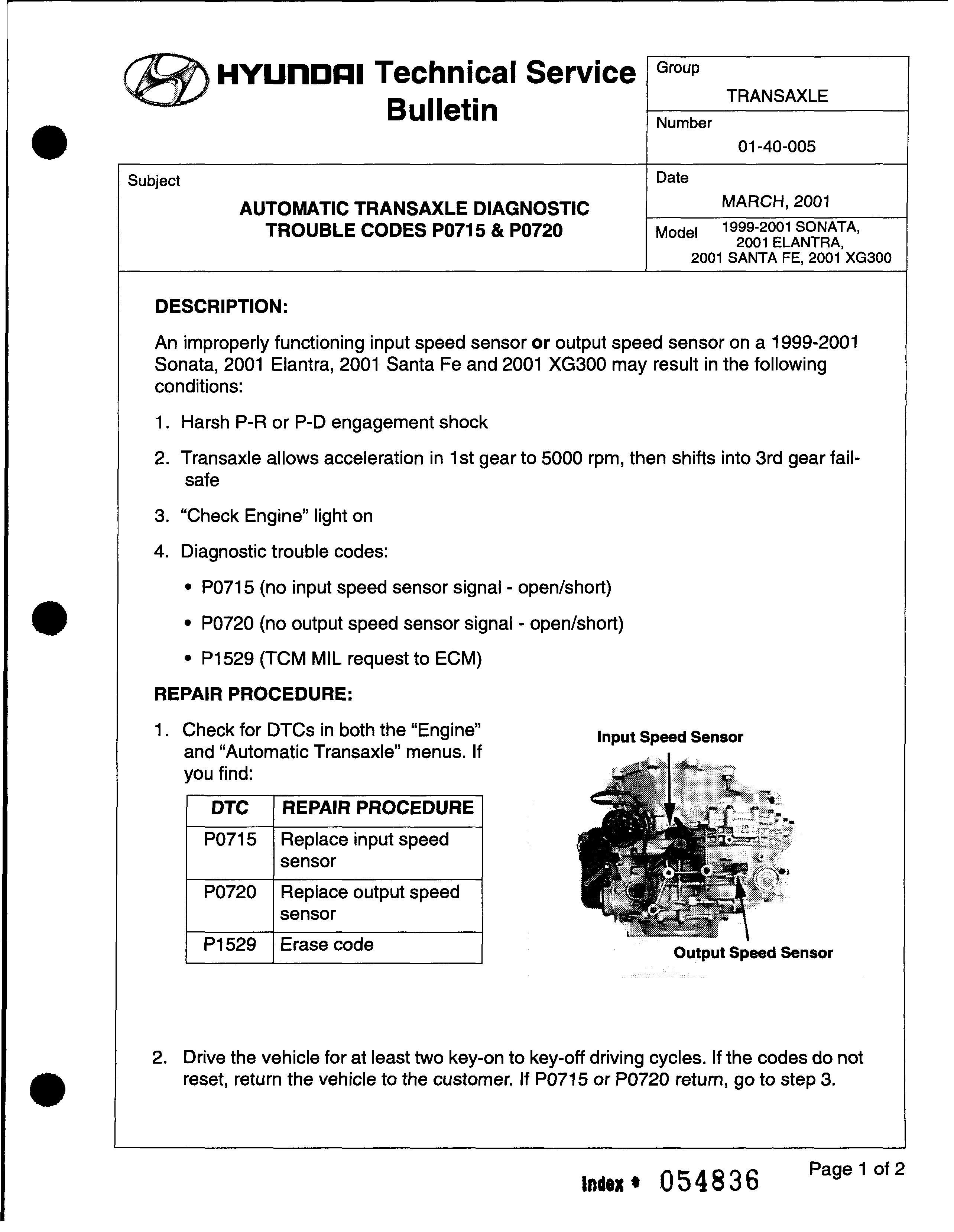 Hyundai Fault Code List DTC