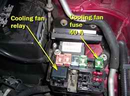 where is the fan relay located on a 1996 ford escort 19