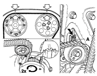 I have trouble replacing a timing belt on a 2000 volvo s40, please help me