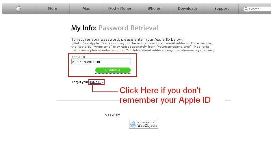 how to get my apple id password