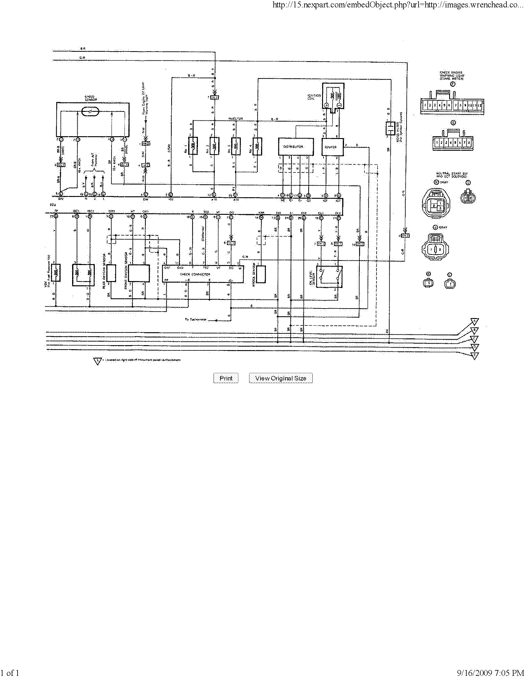 92 previa fuse diagram