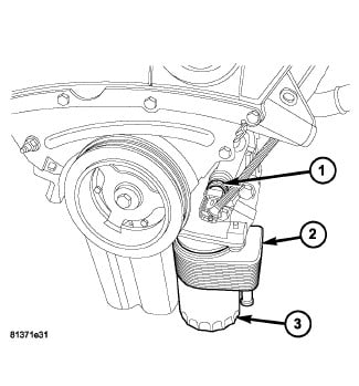 2007 Dodge Caliber Oil Pressure Sending Unit Location