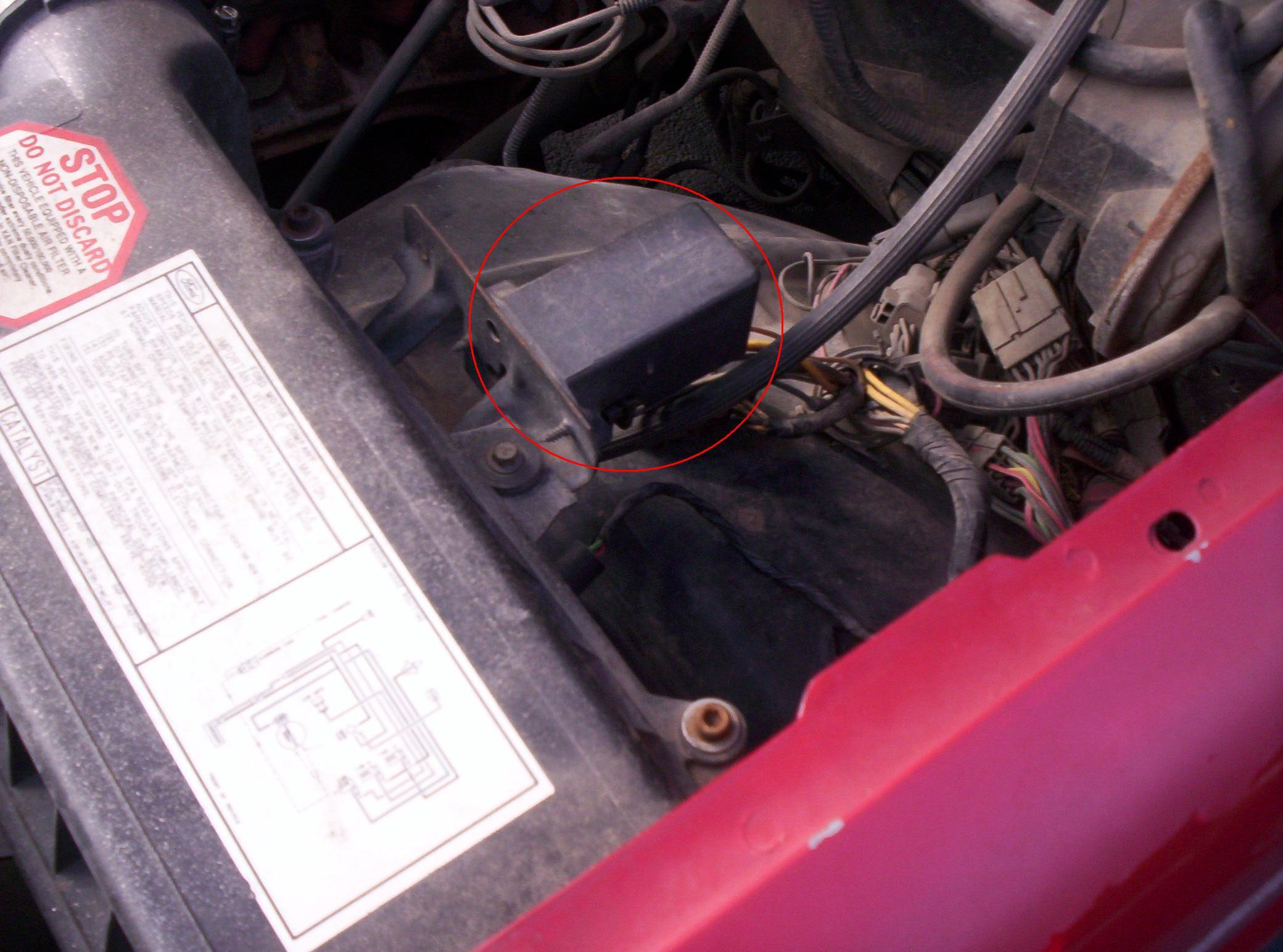 1989 Ford F250 Cranks But Will Not Start Replaced The Fuel 1988 F 250 7 3 Coolant Temp Sensor Also Pump Relay Can Be Manually Activated To Test And By Grounding A Wire At Eec Connector Is Located