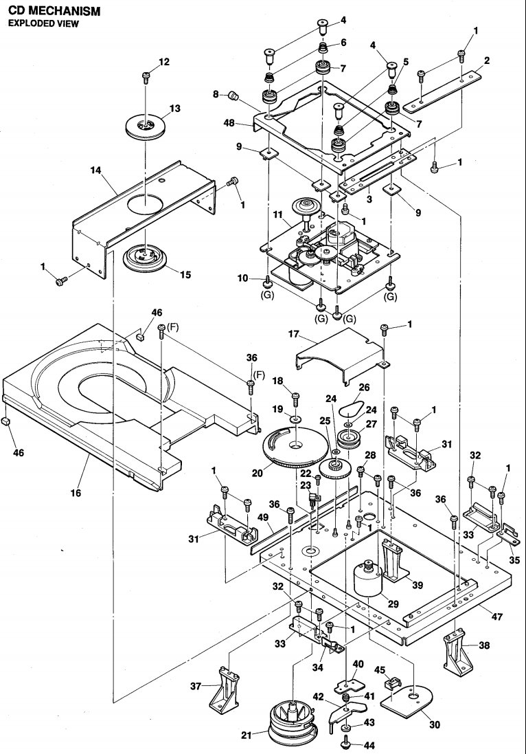The Open Close Mechanism On My Hd7300 Appears To Have Failed Cpu Parts Diagram A Replacement Belt Should Be Readily Available From Most Electronics Stores And Even Some Computer Shops This Is Identical Loading