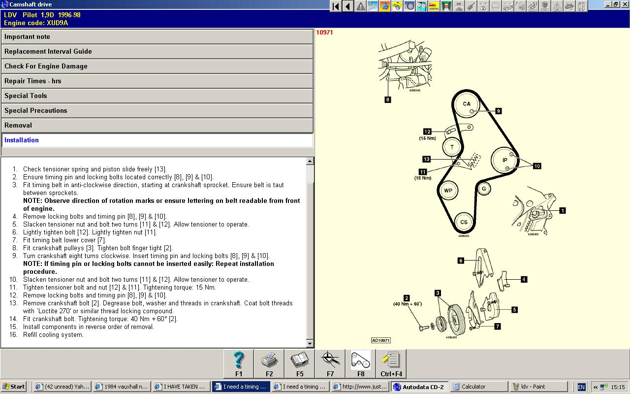 I Need A Timing Diagram For Ldv Pilot 19 Peugeot Diesel Engine Diagrams Graphic