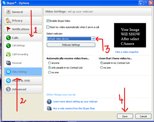 how to turn video off on skype