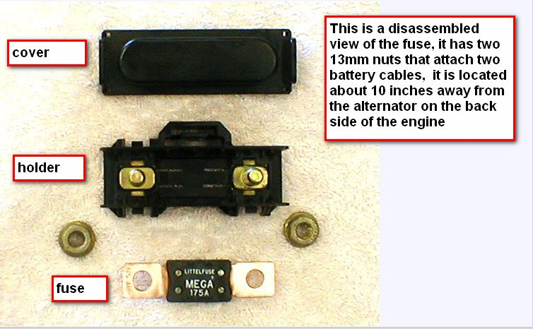 a 2002 mountaineer fuse for alternator