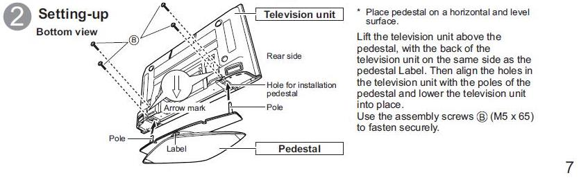 - Am Trying To Wall Mount A Panasonic Viera TH-42PX6U Television