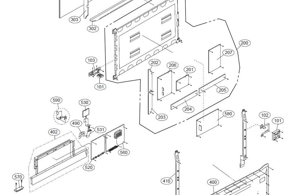 diagram of a lg tv