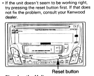 I have a Kenwood car stereo that is starting to either not