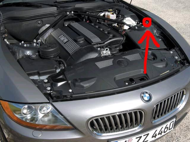 on my bmw z4 roadster either the battery went dead or i blew a  fuse box bmw z4 coupe under the right side