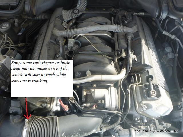 yesterday morning, i tried to start my car (2001 bmw 540i 6spd) and