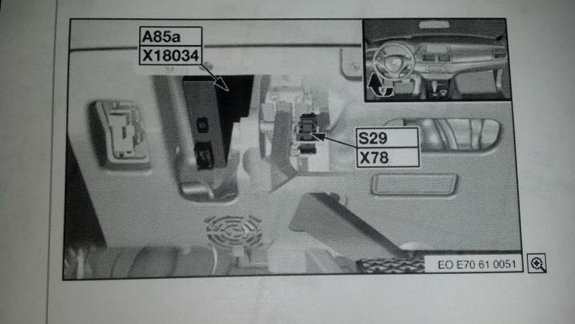 Where Is The Rdc Control Unit Located In A 2009 X5