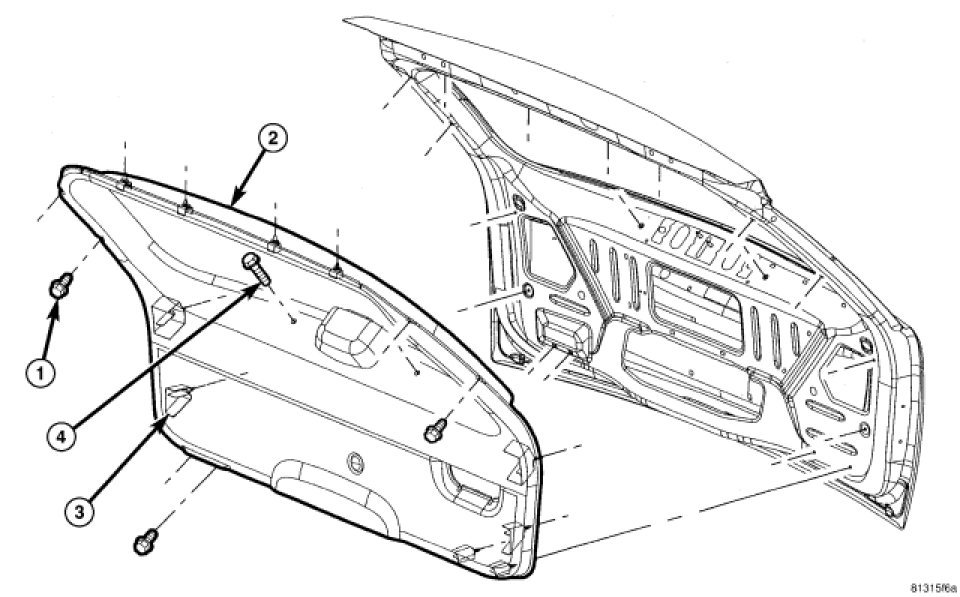 Remove The Tailgate Handle On A 2008 Jeep Grand Cherokee Limited