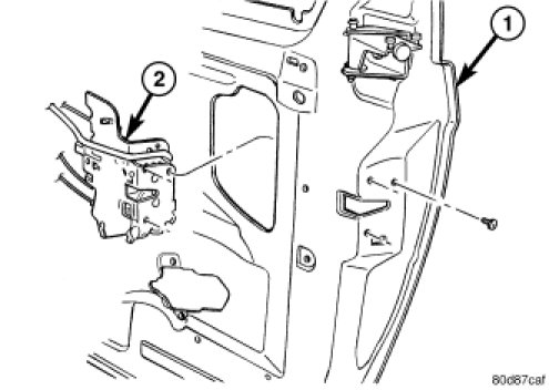I Am Trying To Remove The Rear Door Lock Actuator On A