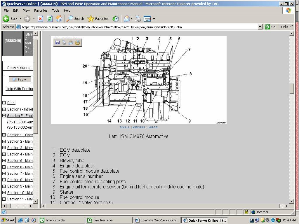 i need location and description of ecm on cummins ism 330 hp 2004 International 7600 Wiring-Diagram