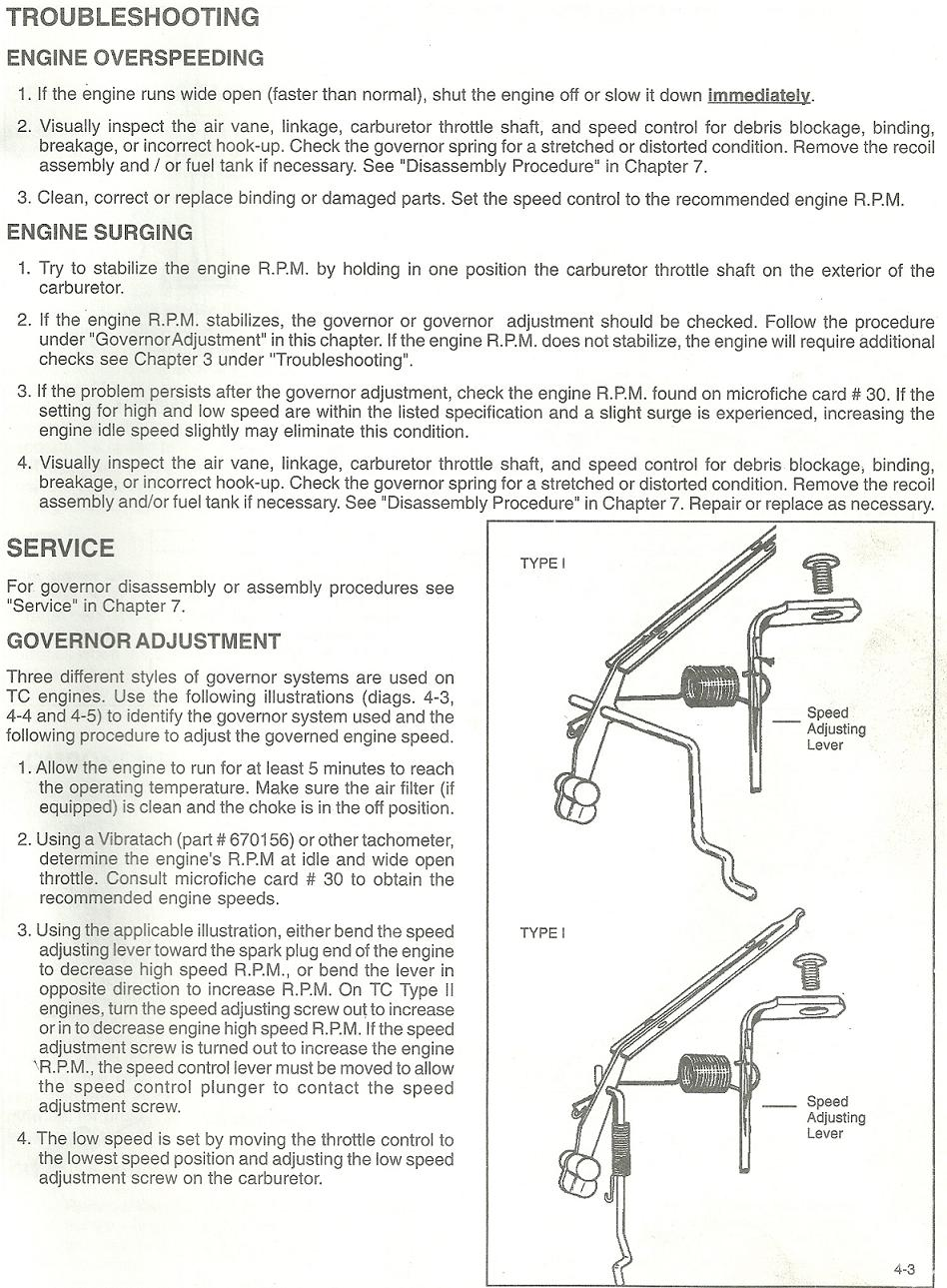 I Need A Diagram For The Carbureter Throttle Spring Setup 4 3 Engine Graphic