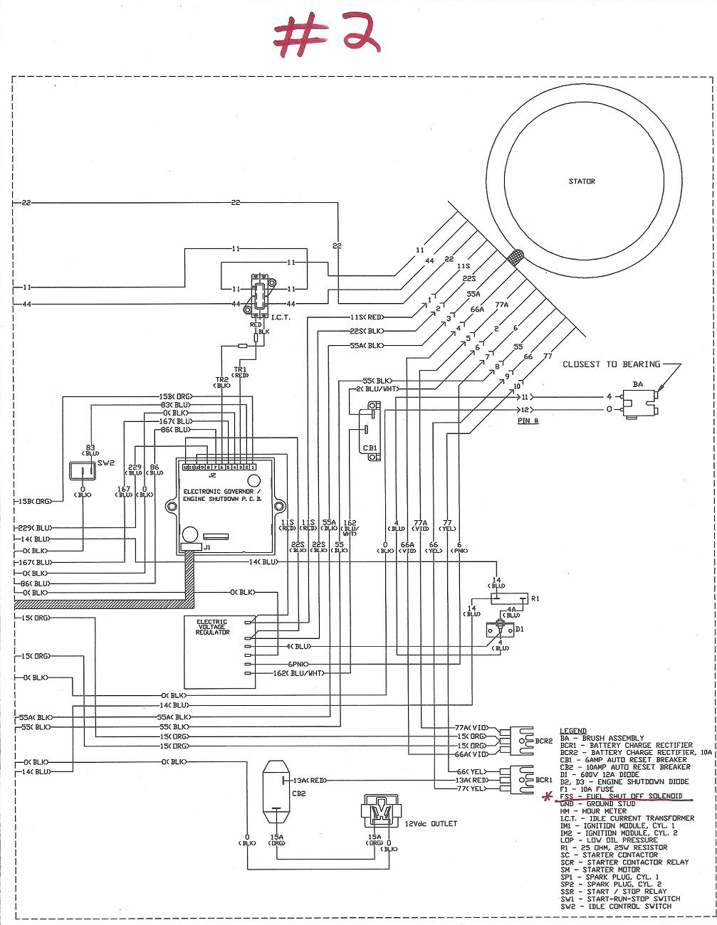 5500 watt generator wiring diagram