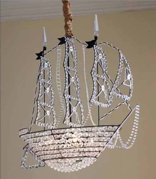 I just purchased a crystal and iron pirate ship chandelier with full size image mozeypictures Choice Image