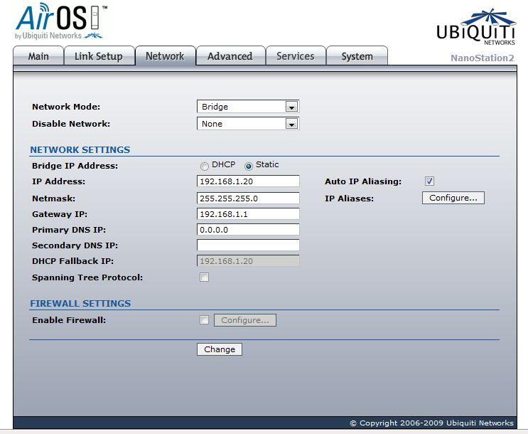 I have a WRT54GS2 connected to a Ubiquiti NanoStation setup
